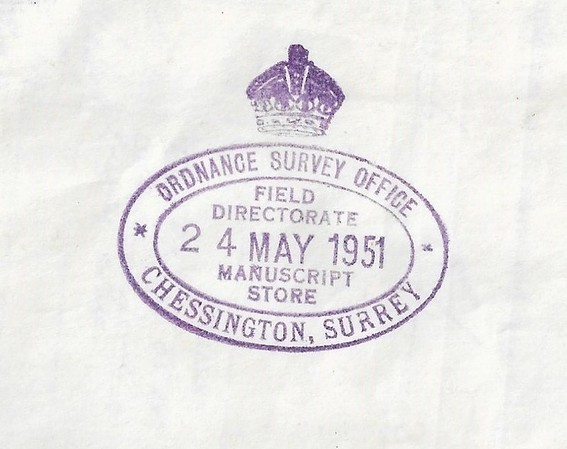 OS stamp Manuscript Store dated-2
