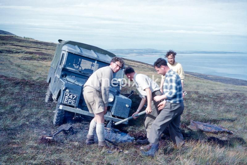 Eday, Orkney, Ordnance Survey retriangulation of GB, 1961