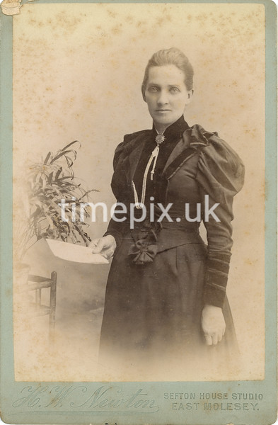 StonelyPhoto01, 1890s cabinet card by H W Newton of East Molesey, Surrey