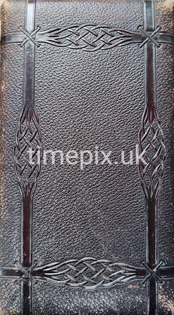 Leather cover of Grandma Leach's Album