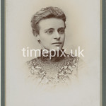 Leach07, 1890s cabinet card by C Ireland of Manchester