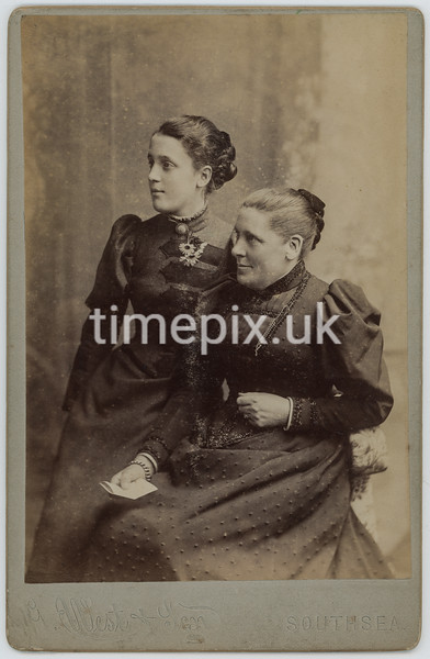 Leach02, 1890s cabinet card by G West and son of Southsea