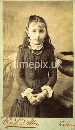 1880s carte de viste by Charles Smith Allen of Tenby
