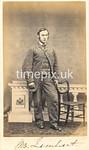Troughton34f, 1860s carte de visite of Mr Lambert by Gird of Whitehaven