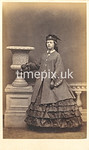 Troughton38f, 1860s carte de visite of Miss Brockbank by William Thomas Gird of Whitehaven
