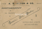SmithPhoto35R, Reverse of 1900s cabinet card by Arthur Eason