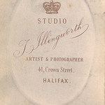 Reverse of a carte de visite card by Thomas Illingworth of Halifax