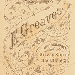 Reverse of 1880s carte de visite by Ezra Greaves of Halifax