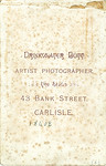 Reverse of cabinet card DrBuckby01F