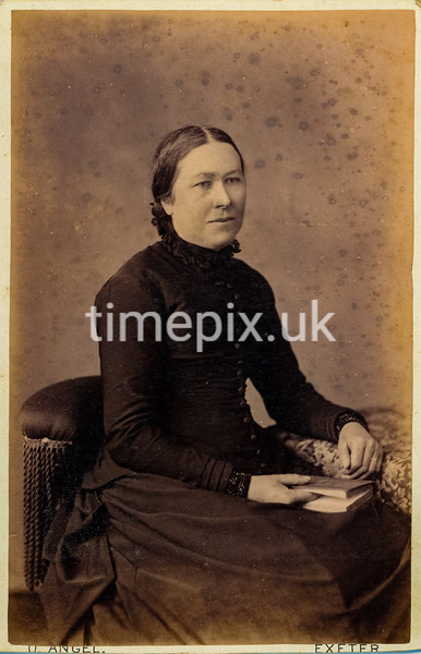 1880s Cabinet photograph by Owen Angel of Exeter