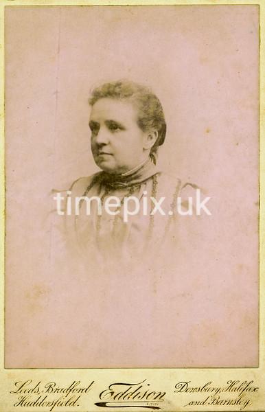 1890s Cabinet photograph by  Edward Eddison of Dewsbury