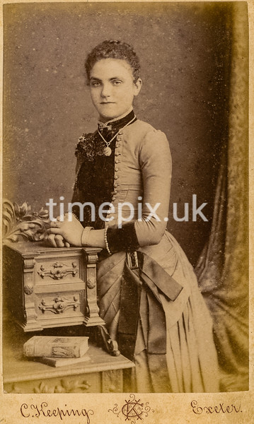 1880s Carte de Visite photograph by Charles Keeping of Exeter
