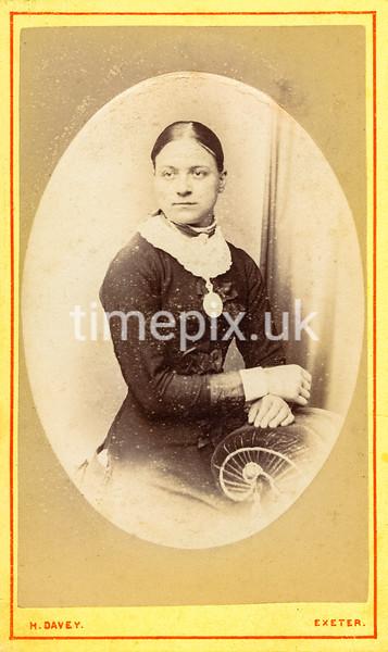 1870s Carte de Visite photograph by H Davey of Exeter