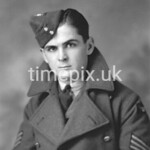 Portrait of RAF airman taken in Sleaford, Lincolnshire
