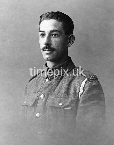 WW1 An unknown soldier with moustache