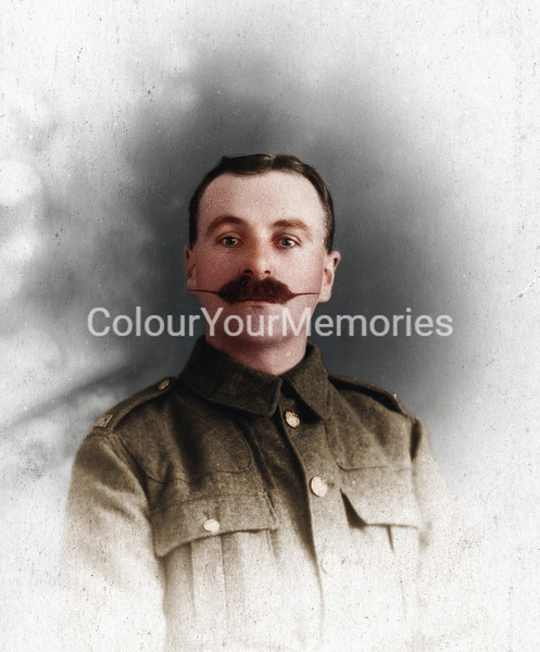 WW1 An unknown soldier with magnificent moustache