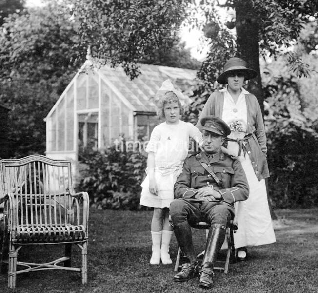 WW1 Second-Lieutenant Baker on leave