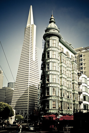 Columbus Tower and the Transamerica Pyramid