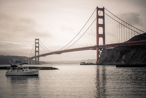 Golden Gate Bridge from Horseshoe Bay