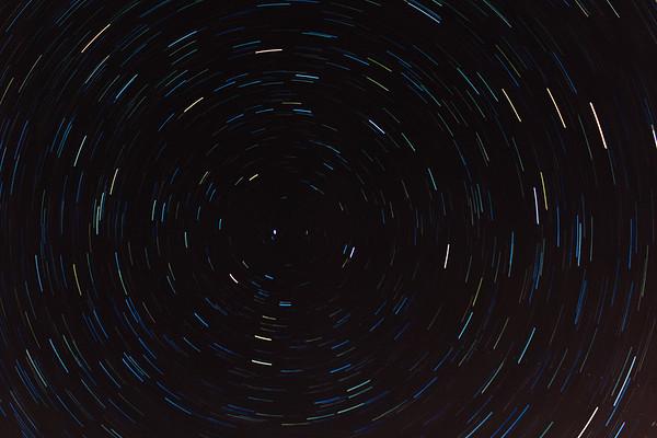 Star trails around Polaris