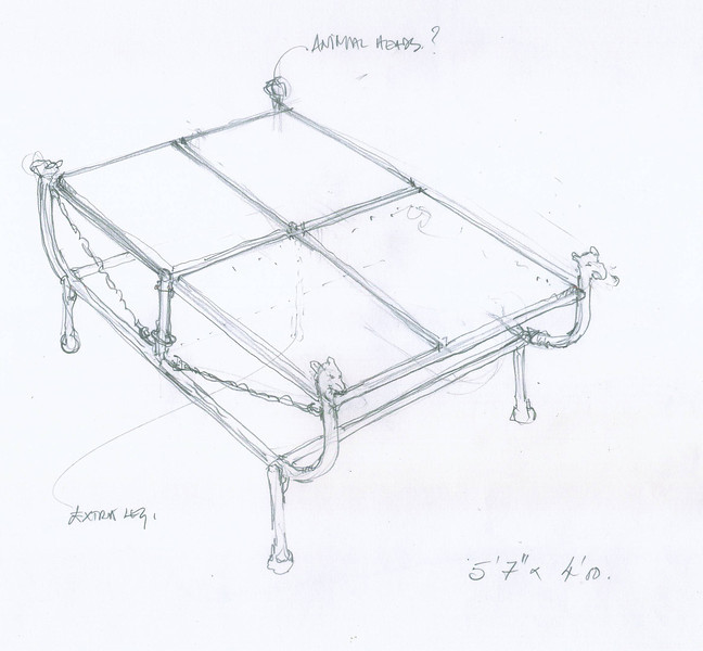 Sketch for coffee table