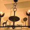 Bonze chandelier, in Giacometti style.