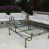 Giacometti style bronze coffee table.