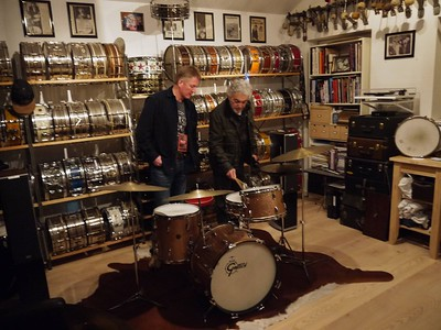Steve Gadd checking my Gretsch RB kit