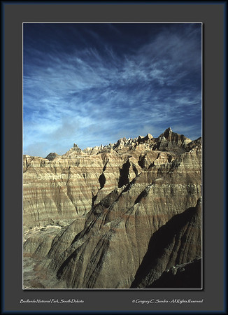 Check out more images like this one in the Badlands National Park gallery at this link ... http://gcsundra.smugmug.com/Collection/Landscapes/Badlands-National-Park/