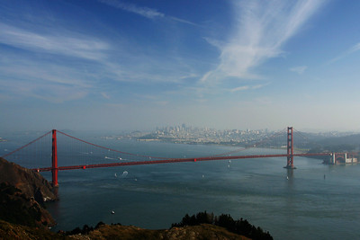 Golden Gate Bridge from the Marin Highlands