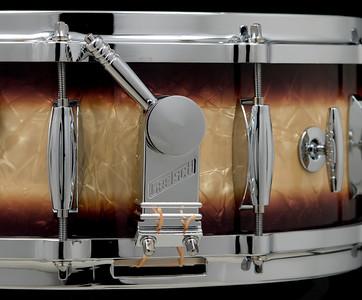 Gretsch, Vintage, Snare, Drum, Round, Badge, RB, Espresso, Burst, Nitron, Steve, Maxwell, 5514