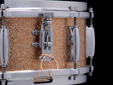 Gretsch, Vintage, Snare, Drum, Round, Badge, RB, Name, Band, Champagne, Sparkle