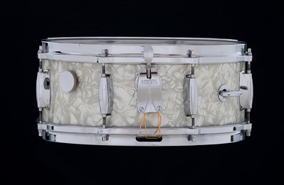 Gretsch, Vintage, Snare, Drum, SSB#1, Stop, sign, badge, White Marine, Pearl, 4157
