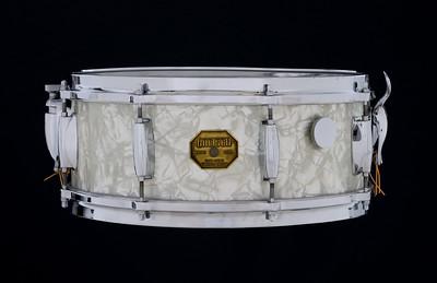 Gretsch, Vintage, Snare, Drum, SSB#1, Stop, sign, badge, White Marine, Pearl, 4157