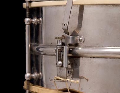 Ludwig, Slingerland, vintage, snare, drum, Heavy, brass, nickel