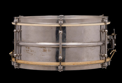 Ludwig, Slingerland, vintage, snare, drum, Heavy, brass, nickel