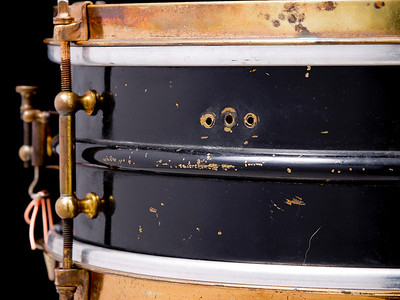 Ludwig, Inspiration, Snare, Black, Gunmetal, Gold,