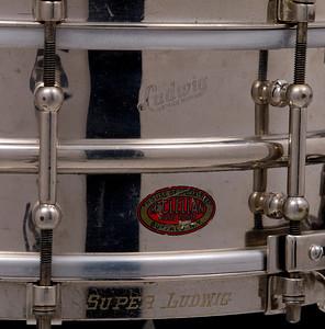 Ludwig,  tube lug, Super-Ludwig, Nickel, Brass,  Heavy