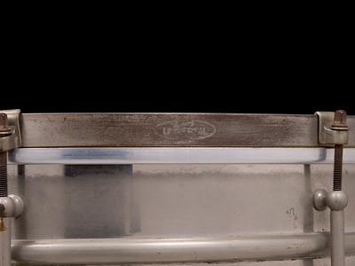 Ludwig, Universal, Brass, Nickel, Hoop, mounted, strainer