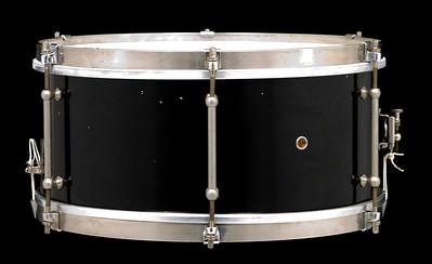 Ludwig, Universal, Concert, Black, Enamel, Tube lugs, P-84, Maple
