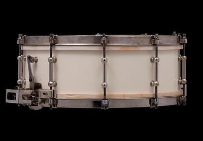 Ludwig, Super, snare, Super-Ludwig, White, Enamel,