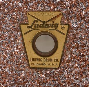 Ludwig, Jazz, Festival, Vintage, Snare, Drum, Keystone, Champagne, Sparkle