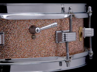 Ludwig, Downbeat, Vintage, Snare, Drum, Champagne, Sparkle