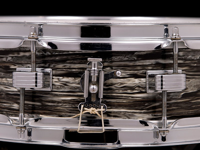 Ludwig, Downbeat, Vintage, Snare, Drum, Oyster, Black, Pearl