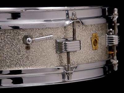 Ludwig, Downbeat, Vintage, Snare, Drum, Silver, Sparkle
