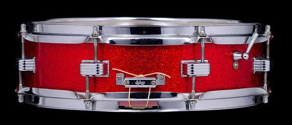 Ludwig, Downbeat, Vintage, Snare, Drum, Keystone, Red, Sparkle