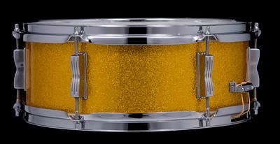 Ludwig, Pioneer, Vintage, Snare, Drum, Keystone, Gold, Sparkle