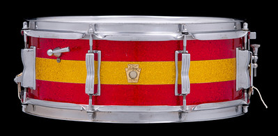 Ludwig, Jazz, Festival, Vintage, Snare, Drum, Keystone, Red, Gold, Sparkle
