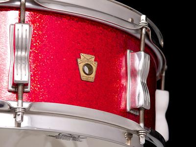 Ludwig, Jazz, Festival, Vintage, Snare, Drum, Keystone, Red, Sparkle