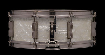 Ludwig, Jazz, Festival, snare, drum, White, Marine, Pearl, P-83, vintage,